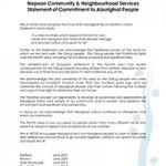 Statement of Commitment to Aboriginal People