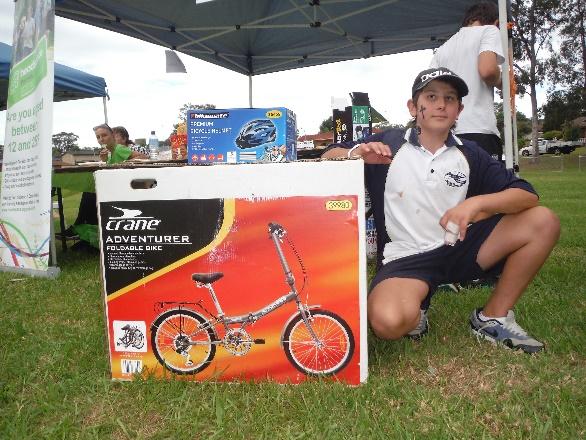 Isaac and bike